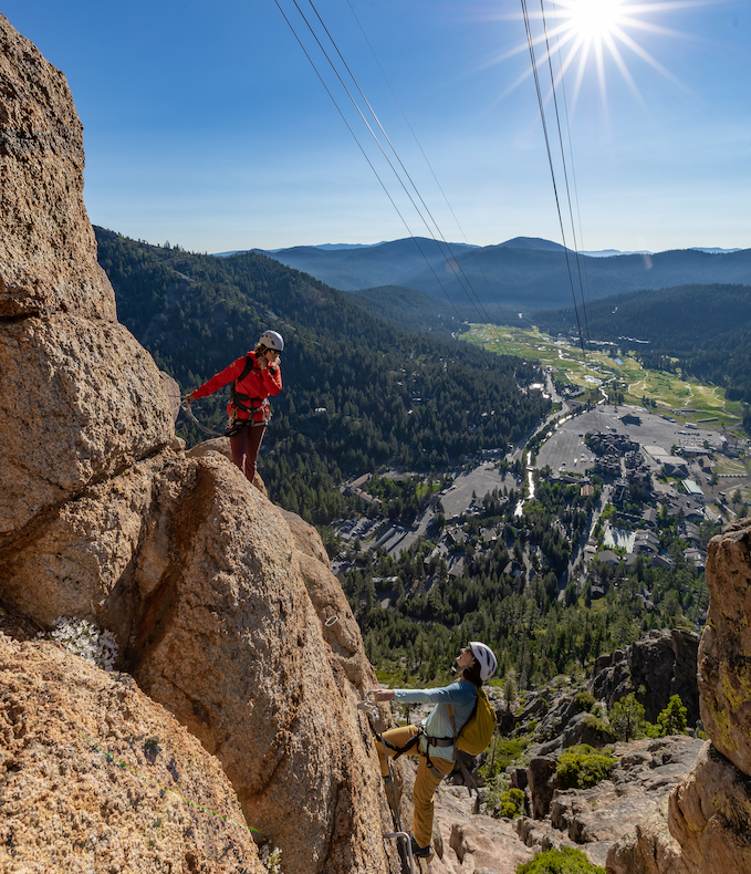 How do Tahoe Via Ferrata Guides Manage Inherent Risk?