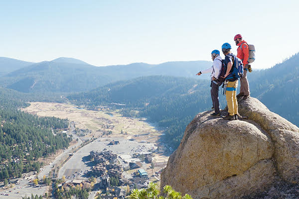 summit, family, rock climbing, squaw valley,